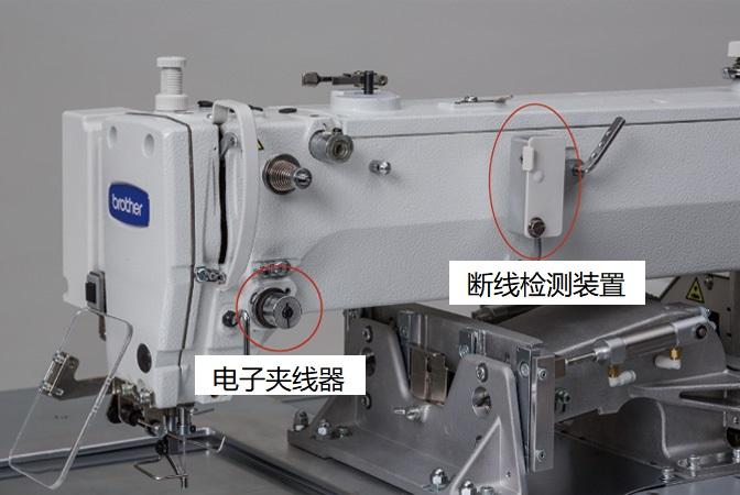 標準配備了電子夾線器・斷線感應器